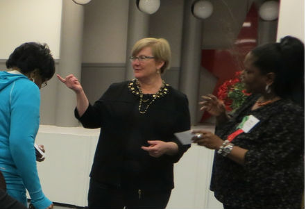 Ruth interacting with attendees